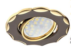 Ecola Звезда Золото + лампа 7 Ватт Image
