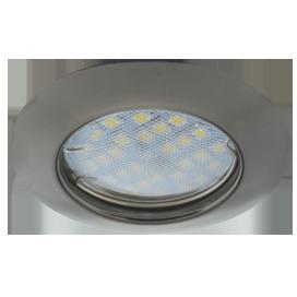 Ecola выпуклый Черный Хром + лампа 7 Ватт Image