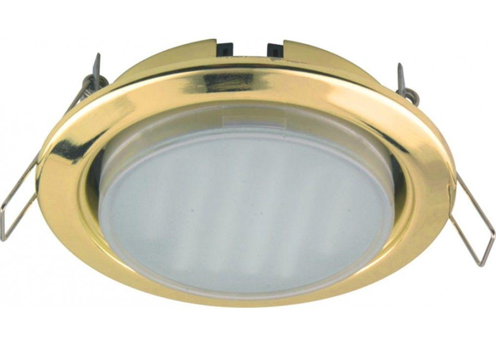Ecola GX53 (таблетка) Золото + лампа 8 Ватт Image