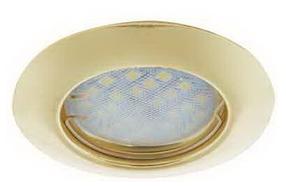 Ecola выпуклый Золото + лампа 7 Ватт Image